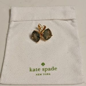 Kate Spade small square lever back earrings